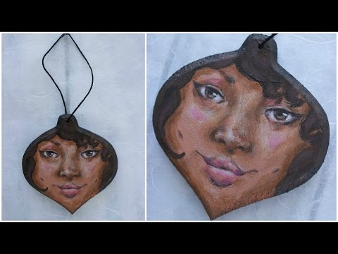 Hand Painted Christmas Ornament Series Day 4 - Jade