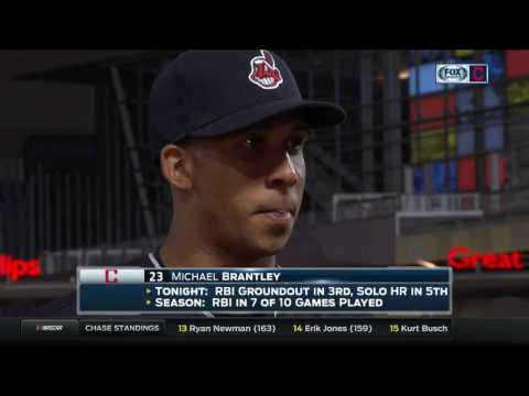 Michael Brantley and Indians start of road trip on right foot vs. Twins