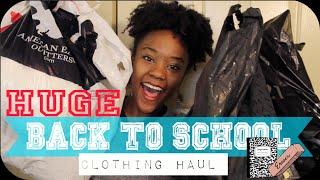 HUGE Back to School Clothing Haul 2015-16! PINK, H&M, F21, Zara, Armani Exchange, +MORE!