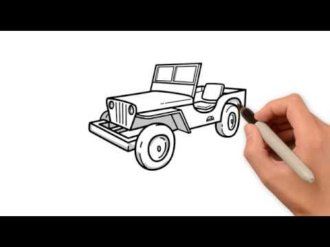 How To Draw A Jeep Youtube