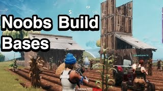 Noobs Building Bases | Fortnite #3 with DeluxeGamer74