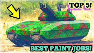 TOP 5 AWESOME PAINT JOBS FOR THE NEW KHANJALI ( TANK )! | GTA V ONLINE!