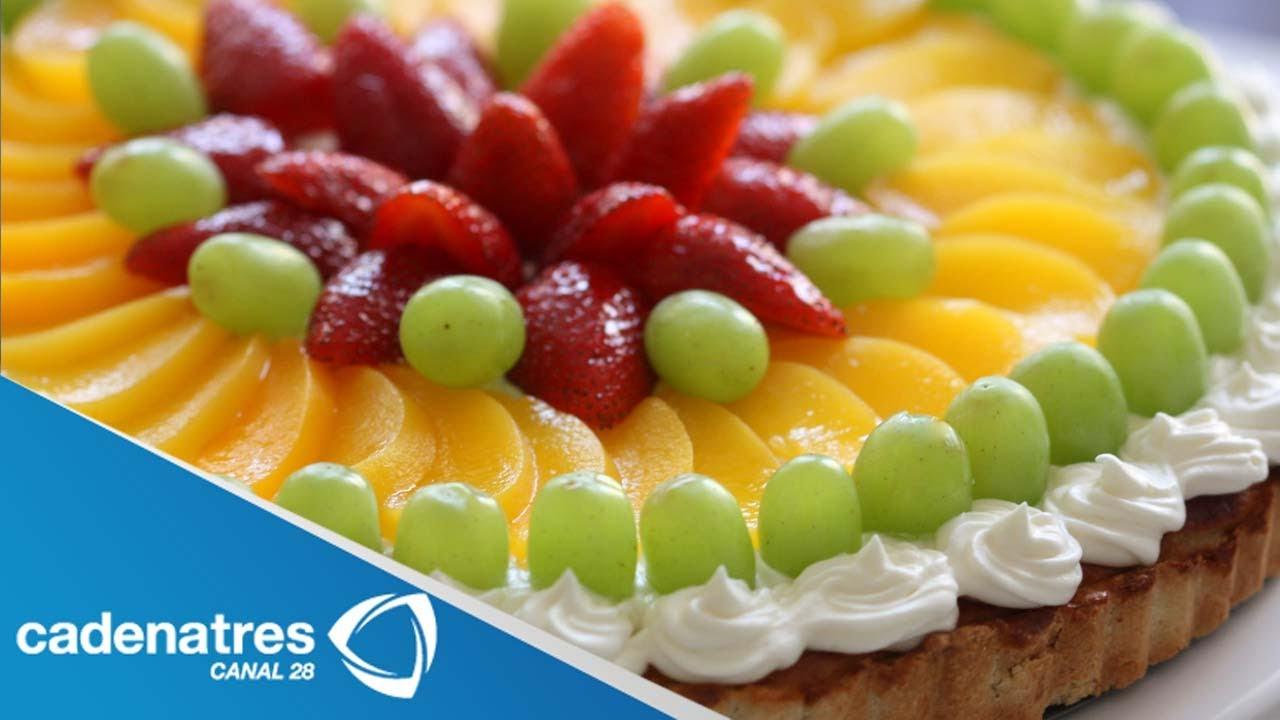 receta de pastel con frutas