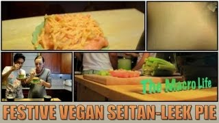 Festive Vegan Seitan-leek Pie