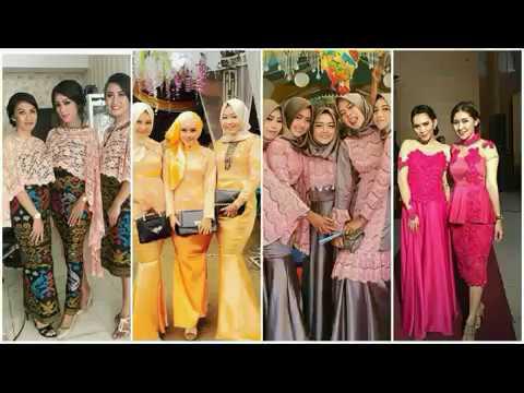 Dress Kebaya Brokat Modern Dan Elegan 2018 Youtube