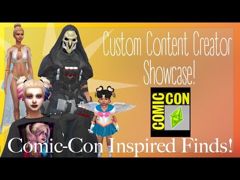 Sims 4 Custom Content Creator Showcase: Comic-Con Inspired Finds!