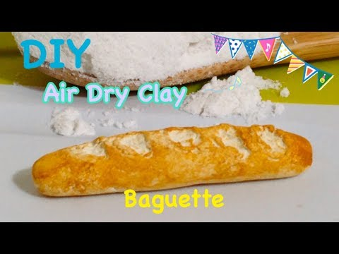 DIY Air Dry Clay!! Miniature Baguette