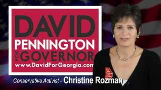 Conservative Activist Christine Rozman on why she supports David Pennington for Governor