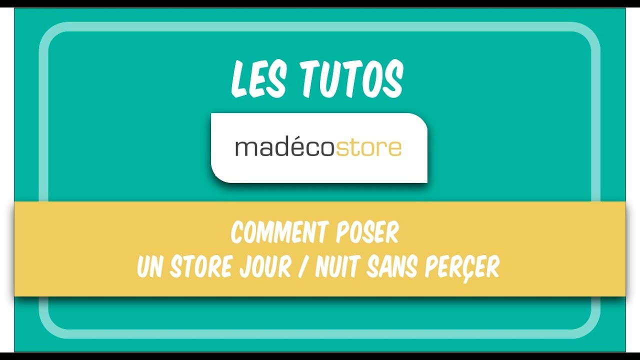 store jour nuit comment poser un store jour nuit sans percer vid o de pose youtube. Black Bedroom Furniture Sets. Home Design Ideas
