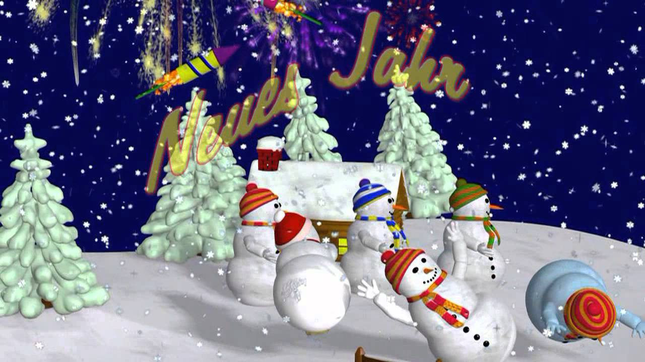 Grüße zum Neujahr 2018, Wünsche zum Neuen Jahr, Lieder - YouTube