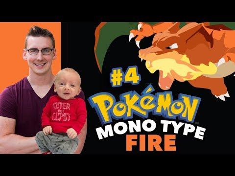 Luke and J Play Pokemon Leaf Green | Mono Type FIRE Run #4
