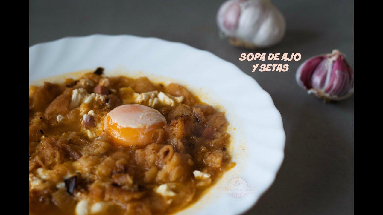 Sopa de ajo y setas sopa castellana receta casera - Sopa castellana casera ...