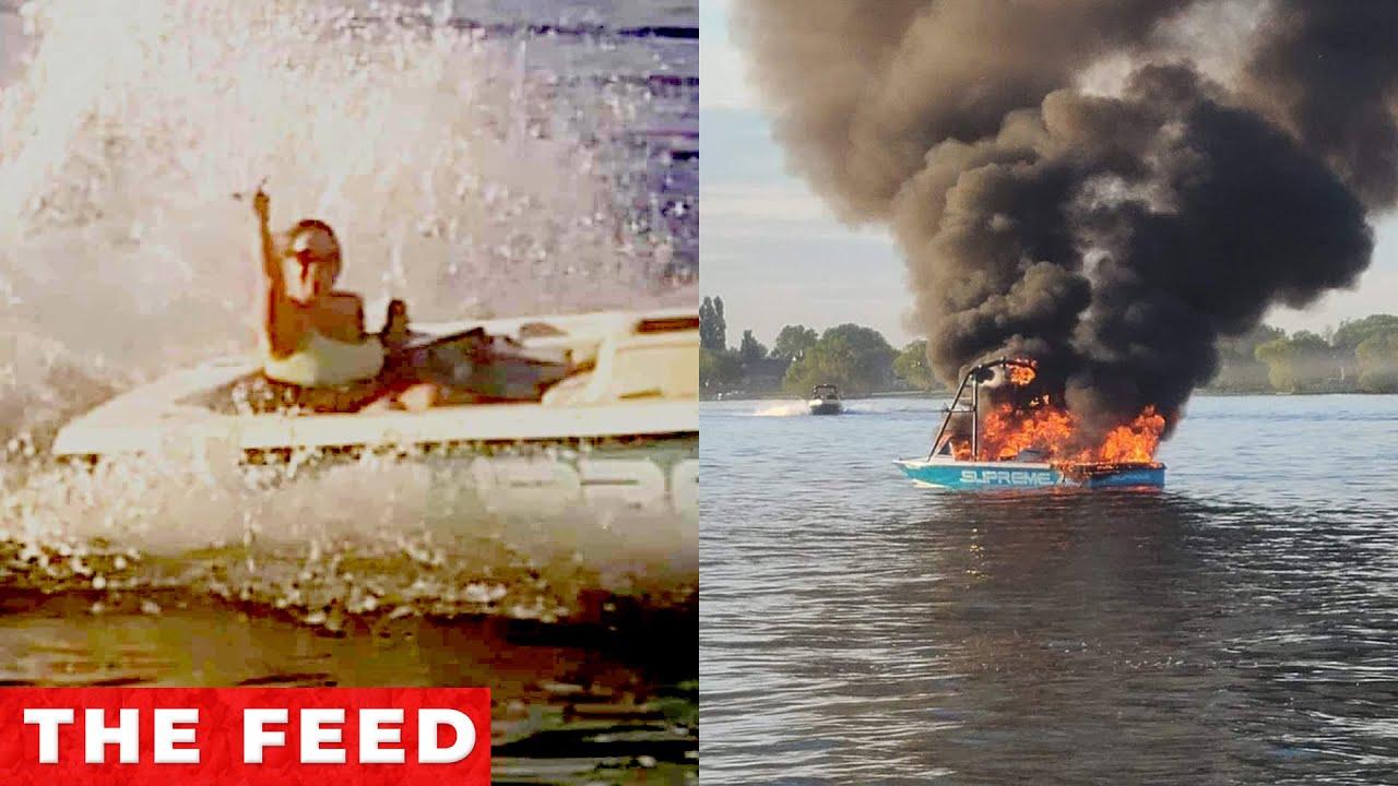 """Boat Explodes After """"Harassing"""" Group Flying Pride Flag"""