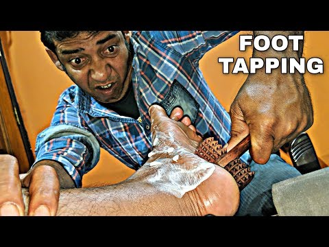 Foot massage with mixed tools | tingles by Asim barber | Indian ASMR