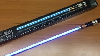 star wars obi-wan kenobi force fx lightsaber collectible with removable blade スターウォーズ FXライトセーバー