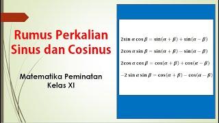 Nah, berikut rumus perkalian sinus dan cosinus yang akan membantu anda menemukan pola perkalian fungsi sinus dan cosinus. Rumus Perkalian Sinus Dan Cosinus Youtube