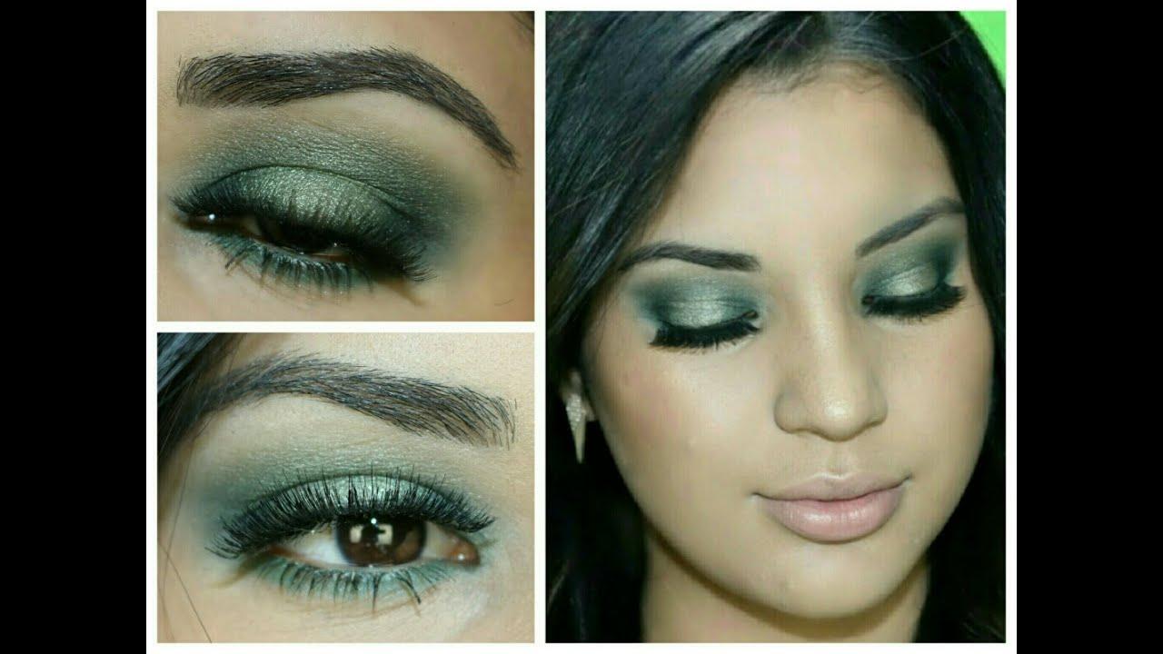 ded362bf5 Tutorial de maquillaje en tono Verde / MAQUILLAJE DE VERANO - YouTube