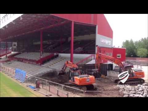 Ashton Gate - Williams demolition begins