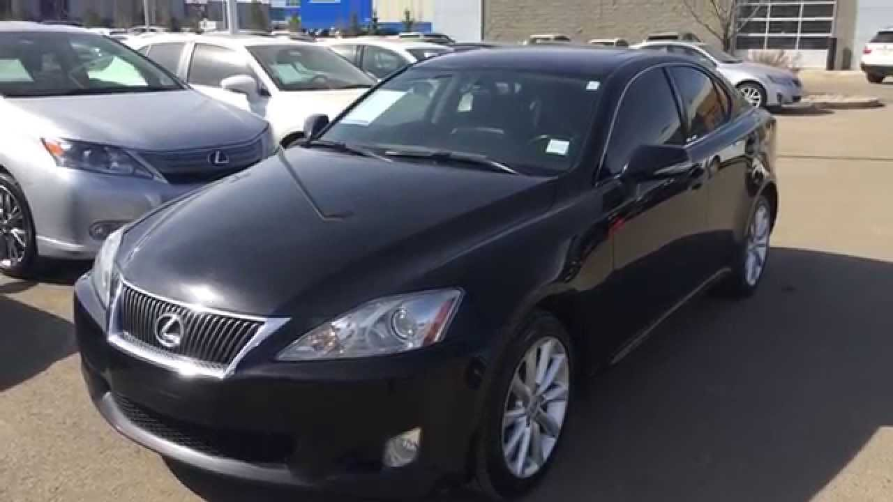 pre owned black 2009 lexus is 250 awd leather with moonroof package calgary youtube. Black Bedroom Furniture Sets. Home Design Ideas