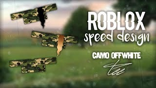 ROBLOX Speed Design | Camo Off-White Tee!