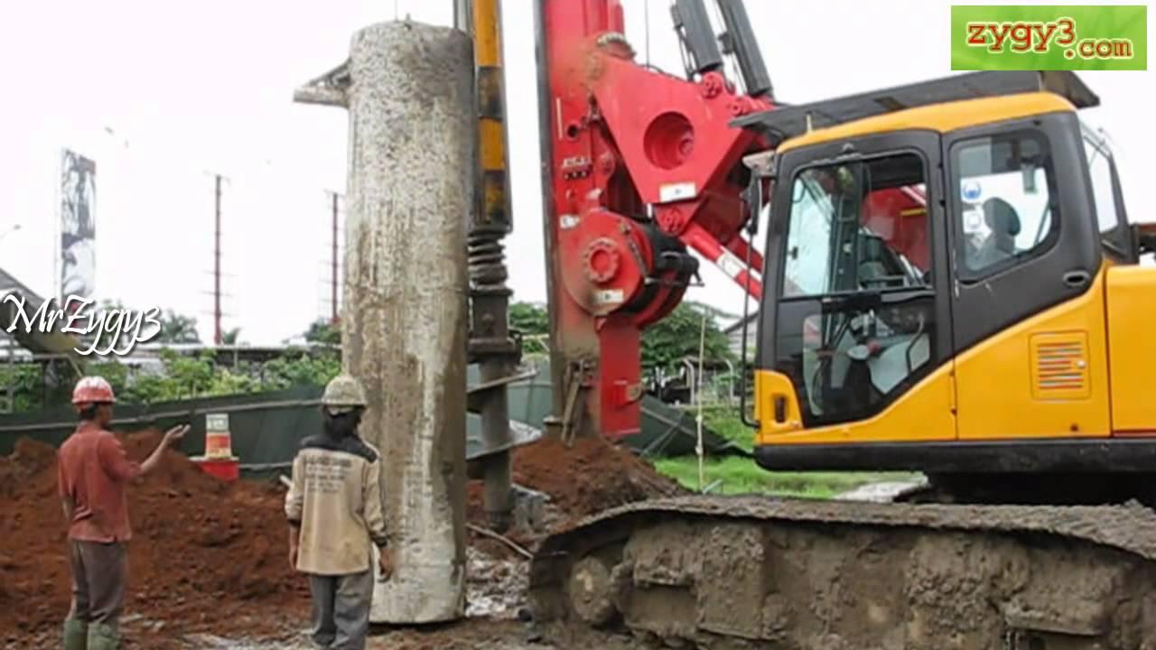 Hydraulic Piling Rotary Drill Rig Installing Casing