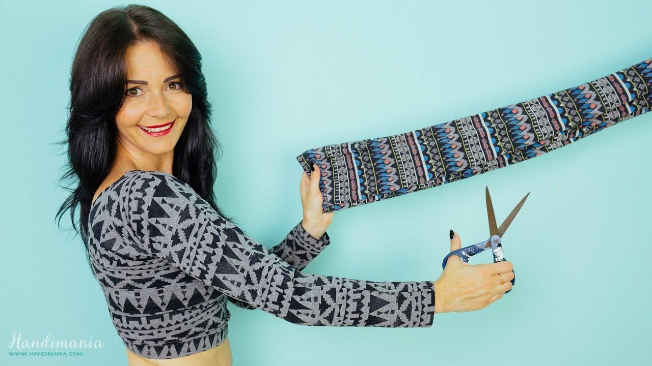 Come fare un top con i leggings con un solo taglio di forbici | Come Fare Moda