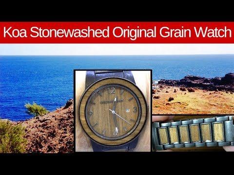 The Koa Stonewashed Watch From Original Grain