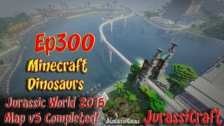 Jurassic World 2015 Its Done! Lake Area is Finished Minecraft Jurassicraft Ep300