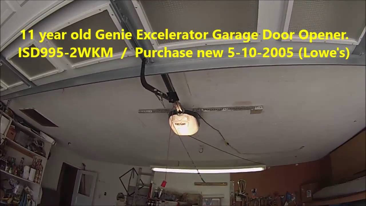 Genie Excelerator Garage Door Opener Isd995 2wkm Fix Youtube