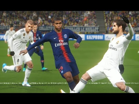 [PC] PSG vs Real Madrid - Gameplay Nouveaux Maillots 2019 PES 2018