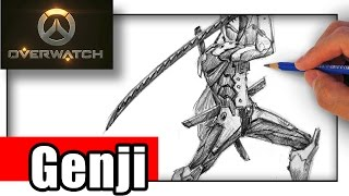 How to Draw Overwatch Genji with Pencil
