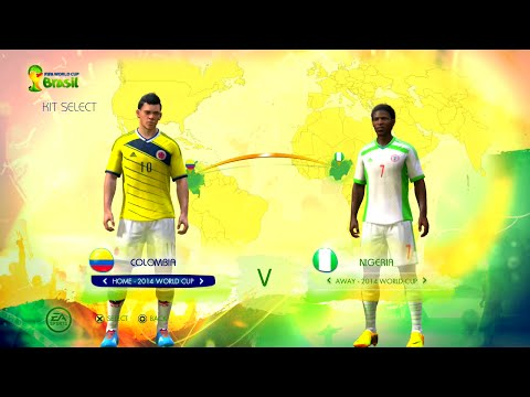 Colombia vs Nigeria Group B Game Pretend Olympic Games Using 2014 FIFA World Cup Brazil