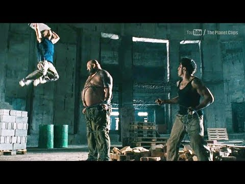 David Belle and Cyril Raffaelli Fight with Giant Man | District B13 Full Action