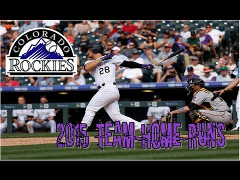 Colorado Rockies   2015 Home Runs (186)