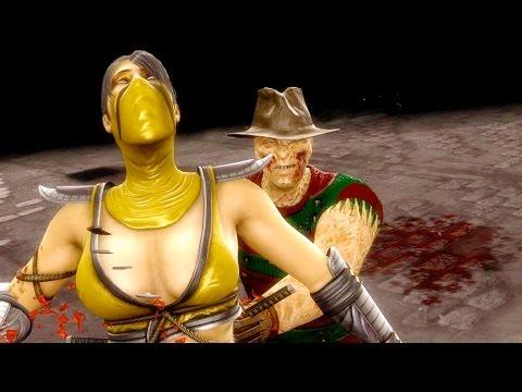 Mortal Kombat 9 - All Fatalities & X-Rays on She Scorpion Costume Skin Mod 4K Ultra HD Gameplay Mods