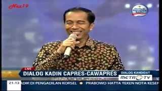 Dialog KADIN Capres & Cawapres Jokowi JK Part. 1