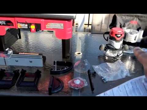 Unboxing Skil RAS900 Router Table with Skil 1830 Router