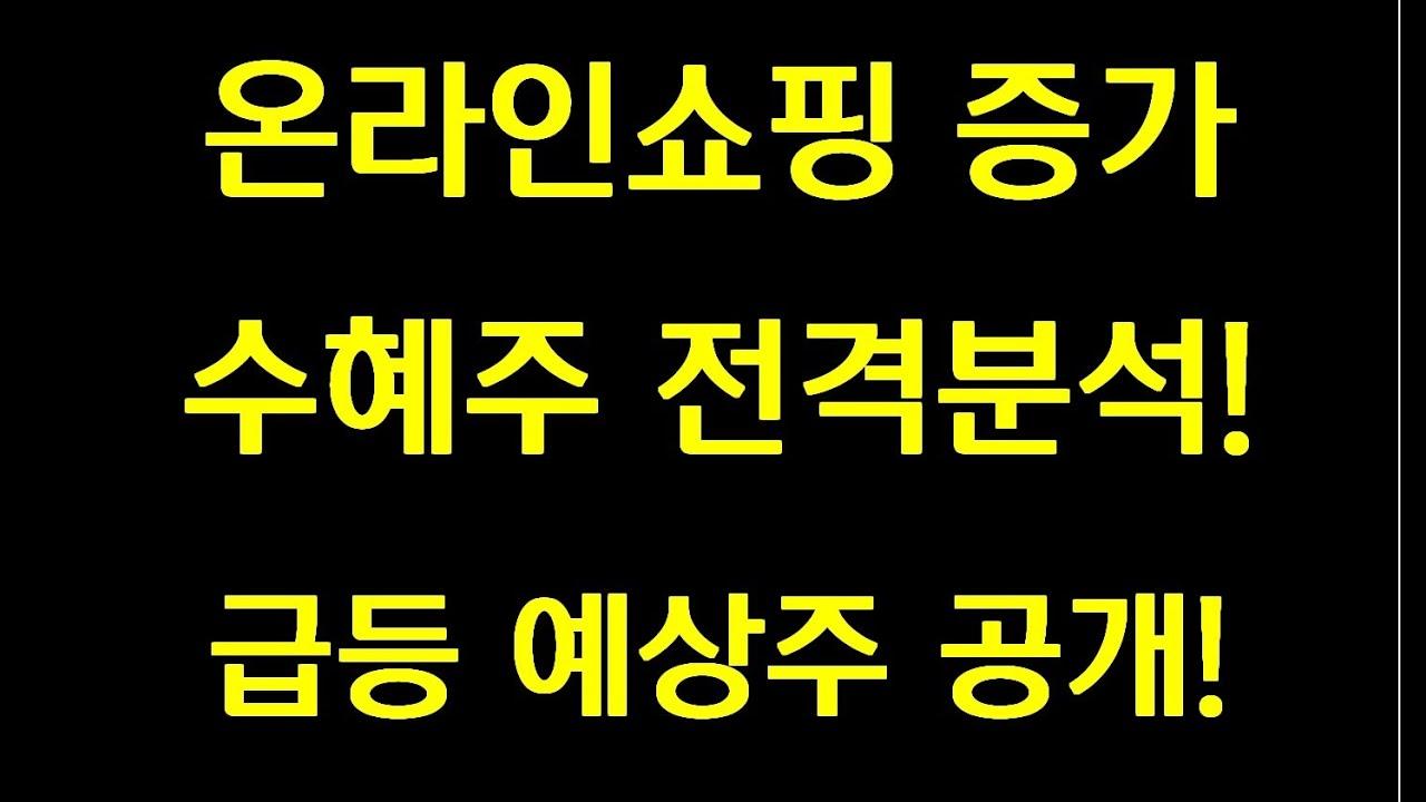 [주식] 온라인 쇼핑증가 수혜주 전격분석! 급등예상주 공개!!