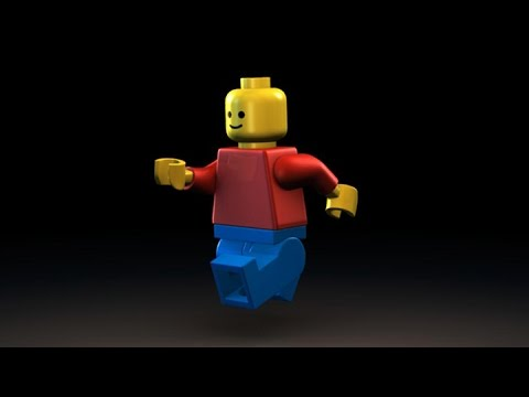 LEGO Minifigure Model | 3D Animation - YouTube