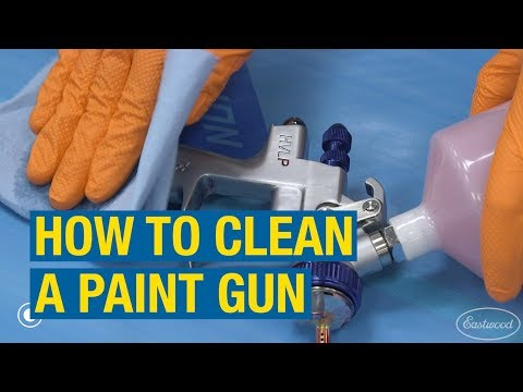 How To Clean A Paint Gun Using Paint Gun & Equipment Cleaner! - Eastwood