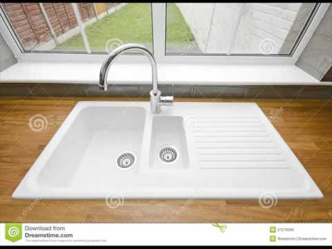 White Ceramic Sink for Kitchen with Taps UK - YouTube