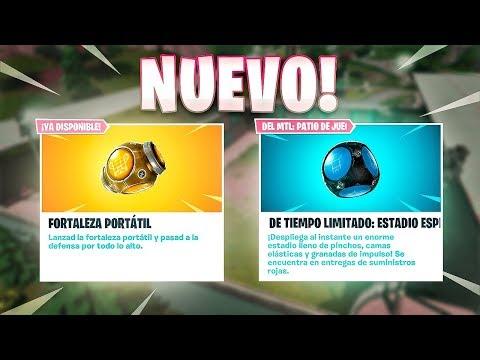 *NUEVO* ESTADIO ESPINOSO Y FORTALEZA PORTATIL! FORTNITE: Battle Royale