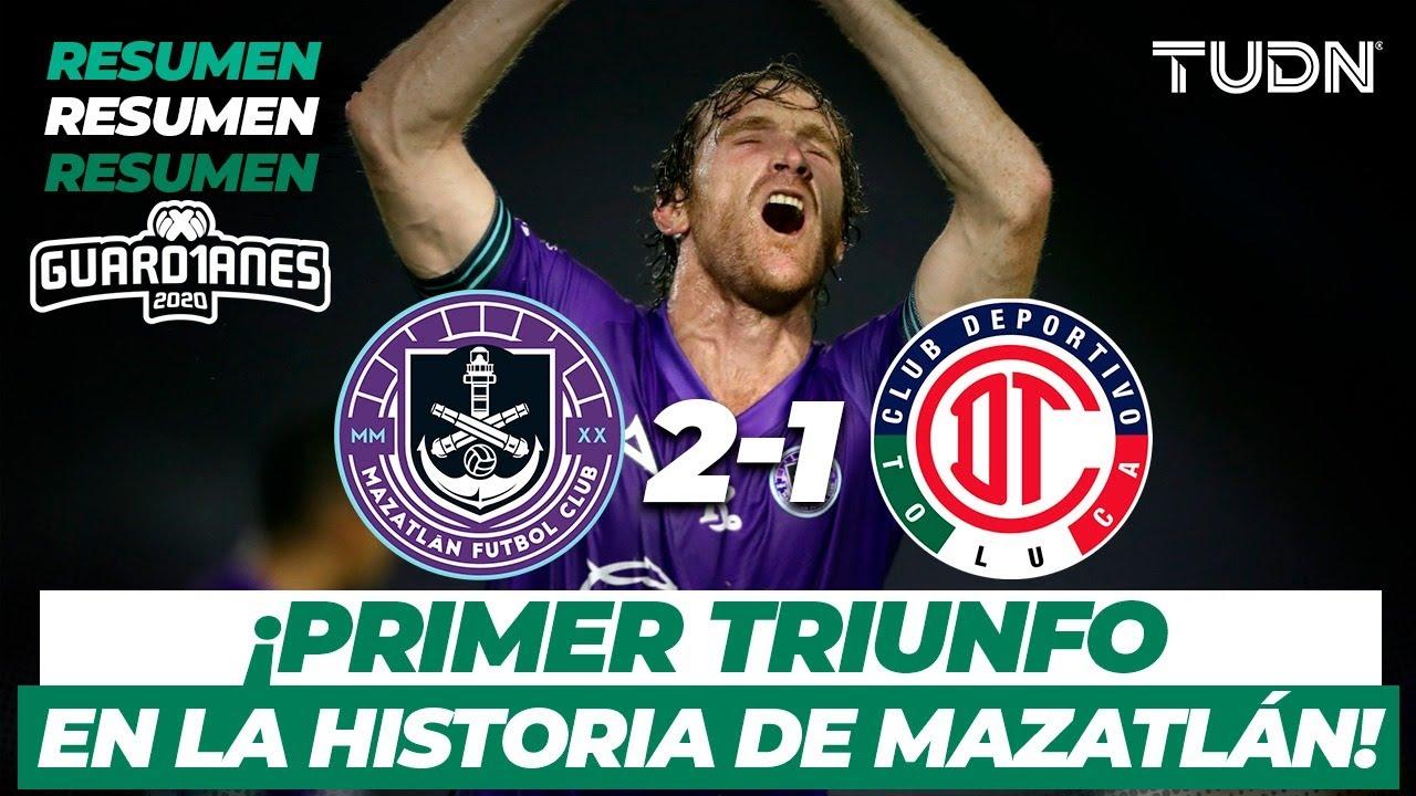 Resumen y goles | Mazatlán 2-1 Toluca | Guard1anes 2020 Liga BBVA MX - J3 | TUDN