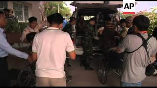 Wounded soldiers treated in hospital as Cambodia border dispute continues