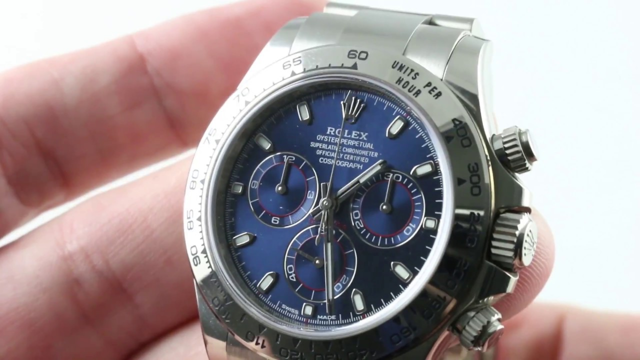 Rolex Daytona 116509 Blue Dial White Gold Luxury Watch Review