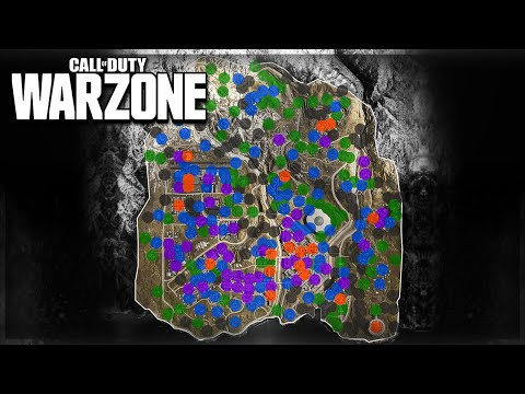 Cod Warzone Loot Map Best Drop Locations Youtube