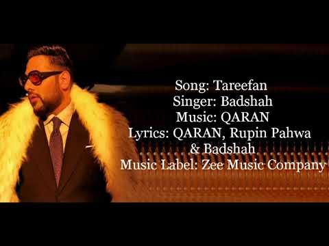 """TAREEFAN"" Full Song With Lyrics ▪ Badshah ▪ QARAN ▪ Veere Di Wedding ▪ Kareena & Sonam Kapoor"