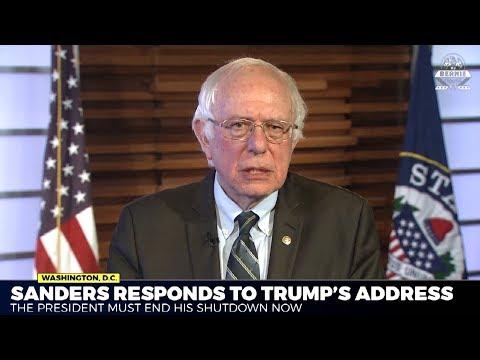 Bernie Schools Trump In Government Shutdown/ Border Wall Response