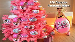 Christmas Tree in the STYLE of LOL surprise DOlls. + huge L.O.L.  surprise