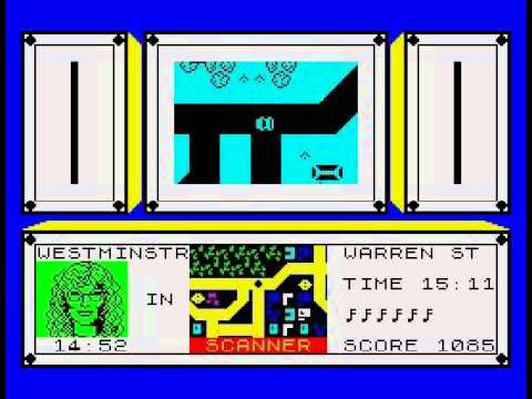 Gameplay: Give My Regards To Broad Street - ZX Spectrum - Argus Press Software - 1985